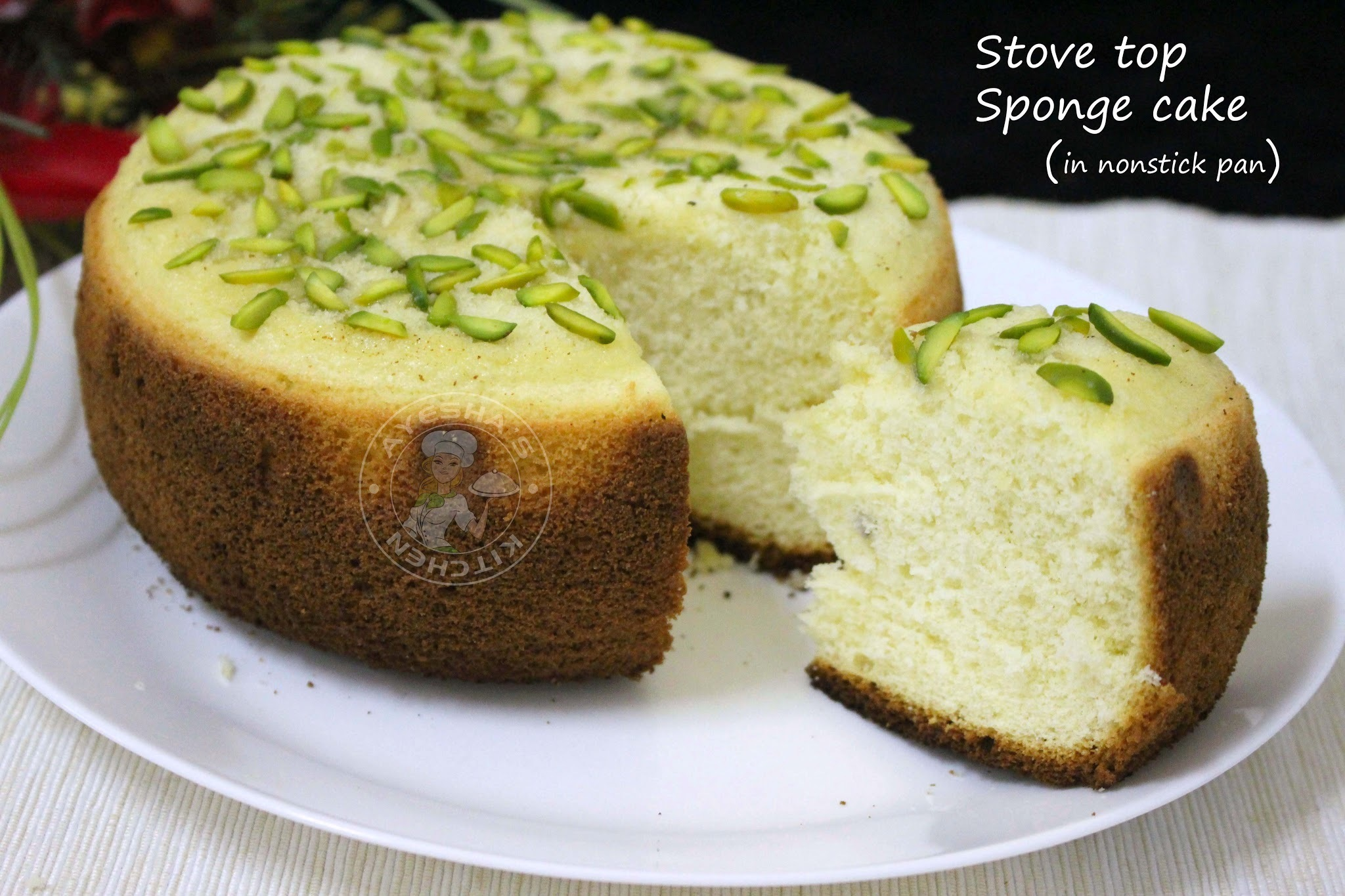 SPONGE CAKE ON STOVE TOP - No baking powder, no baking soda, no vanilla, no butter