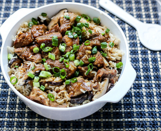 Mushrooms & Pork Ribs Claypot Rice