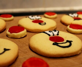 Gluten-free 'Red Nose Day' cookies