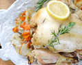 Savory Slow Cooker Rosemary Lemon Chicken