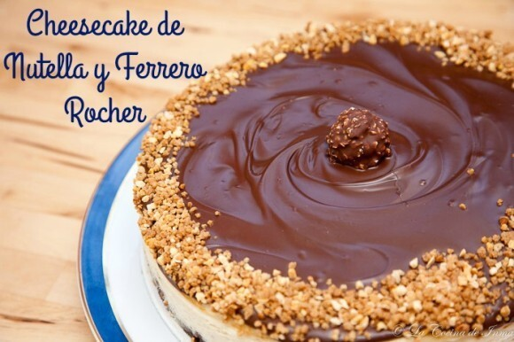 Cheesecake de Nutella y Ferrero Rocher
