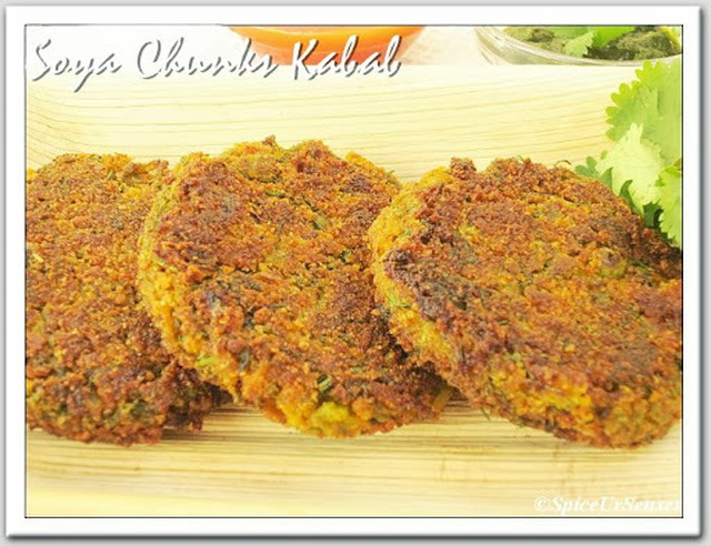 Soya Chunks Kabab.. (Soya Chunks Patties)