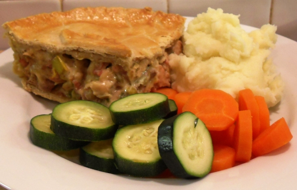 Turkey, Bacon & Leek Pie