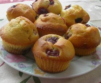 Meggyes muffin (gluténmentes)