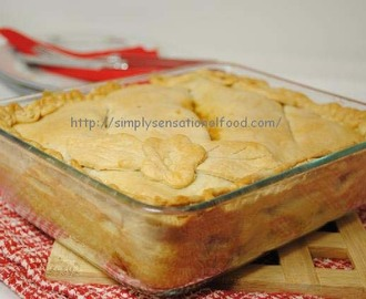 Giveaway pie dish and Winter vegetable and bean pie for British Pie week.