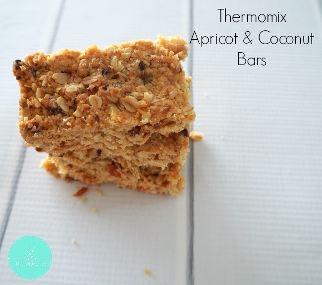 Thermomix Apricot and Coconut Bars