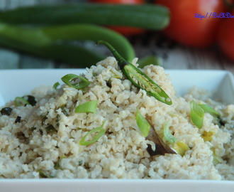 Spring onion simple pilaf/pulao