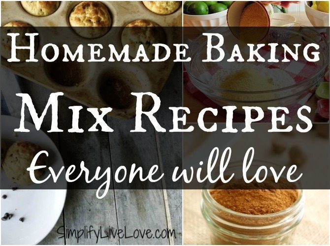 Save Time & Money with these Homemade Baking Mix Recipes