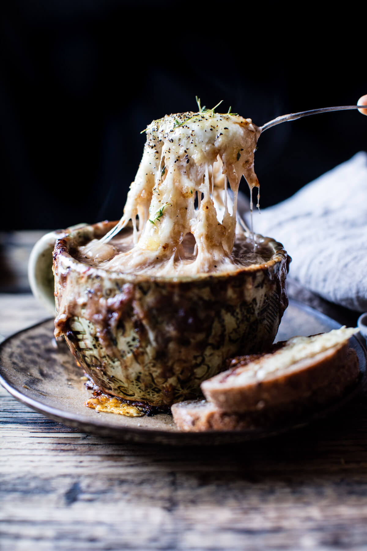 French Onion Gnocchi Soup.