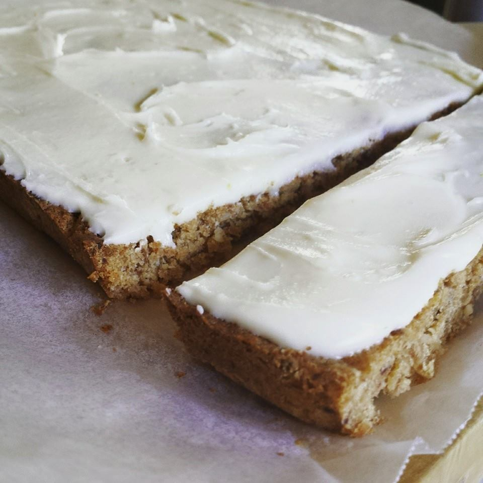 Date & Coconut Slice with Lemon Icing