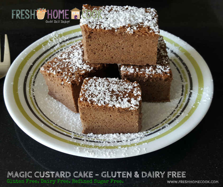 Magic Custard Cake – (Gluten & Dairy Free)