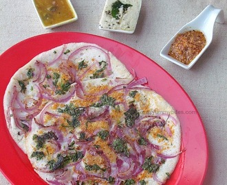 Onion Uttapam / Savory Indian Pancake