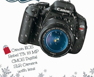 Amazing Giveaway: Canon EOS Rebel T3i 18 MP CMOS Digital SLR Camera
