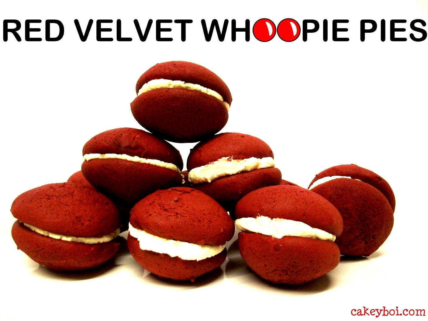 Red Velvet Whoopie Pies for Red Nose Day