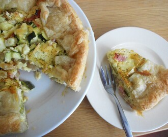 Recept:: Quiche met courgette, bacon & brie