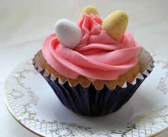 Cadbury's Mini Egg filled Cupcakes