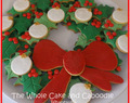 Fun holly cookies for Christmas