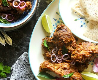 Mangalorean Chicken Ghee Roast & Neer Dosa