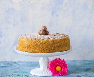 Eggless Whole Wheat Vanilla Cake - Basic Sponge Cake recipe, using Buttermilk
