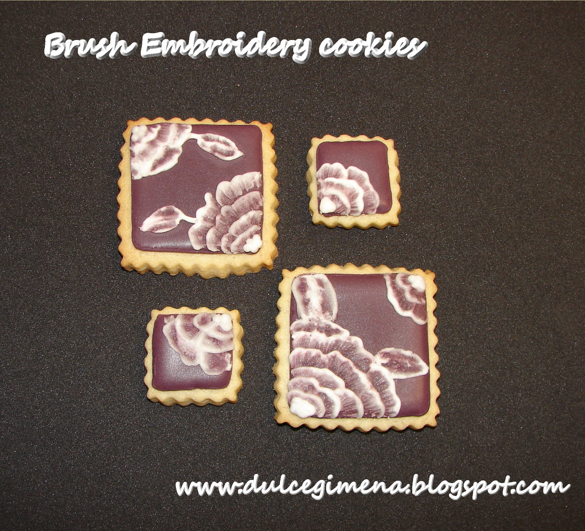 Brush Embroidery Cookies