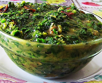 Palak Ka Kapa ( Kumauni style Spinach vegetable)
