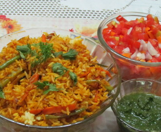 Kadai Pulav (Fried Rice With Vegetables)
