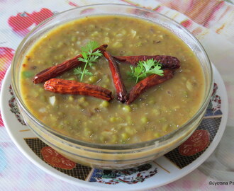 Sabut Moong Ki Dal (Indian Savory Of Whole Green Gram)