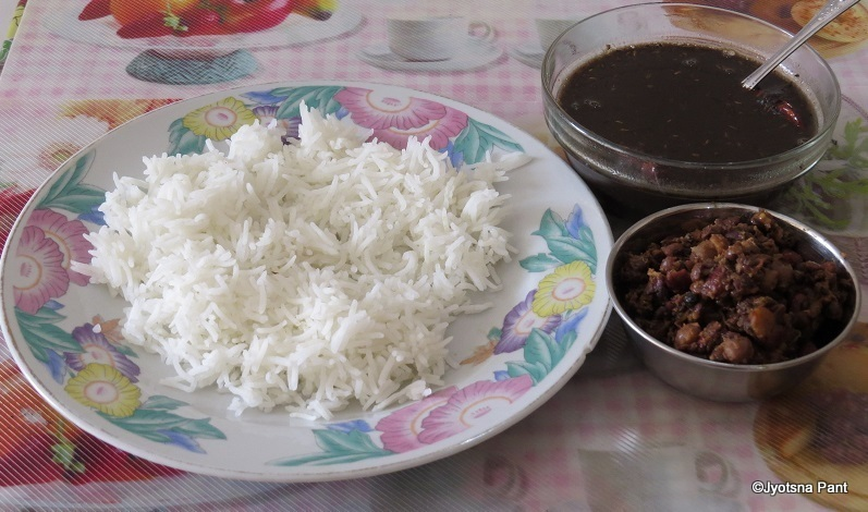 Ras and Gude (Uttarankand's Thick Black Soup and savory Of Whole Pulses)