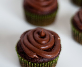 Chocolate cupcakes with Nutella Buttercream frosting