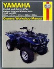 Yamaha kodiak and grizzly atvs - 2-wheel drive and 4-wheel drive 1993 to 20