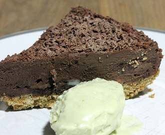 Easy No Bake Double Chocolate Cheesecake