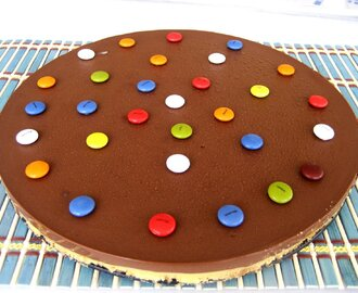 TARTA DE FLAN Y CHOCOLATE