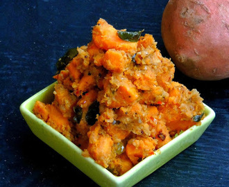 Sweet Potato Curry/Sakkaravalli Kizhangu Poriyal