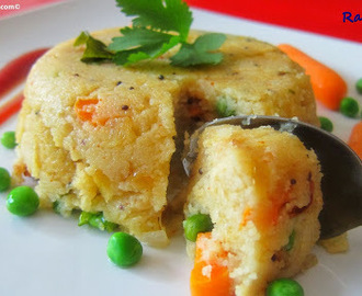 Rava (Semolina) Upma /Vegetable Upma Recipe