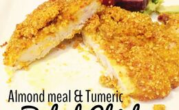 Almond meal & tumeric baked chicken