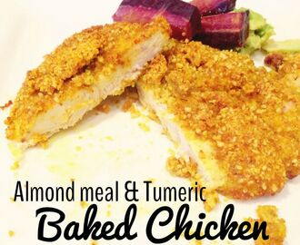 Almond Meal and Tumeric Baked Chicken