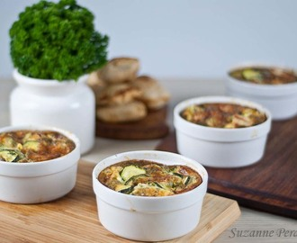 Chicken, Zucchini & Gruyere Clafoutis – gluten-free and low FODMAPs