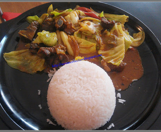 MUTTON WITH CABBAGE CURRY