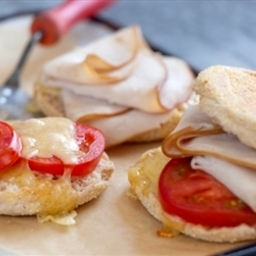 Turkey, Tomato and Emmentaler Breakfast Sandwiches