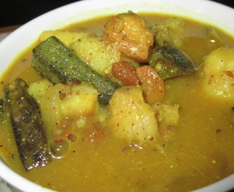 Traditional Mix veg curry with Mustard paste