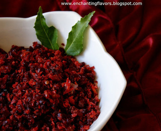 Trivandrum Style Beetroot Thoran / Beetroot Stir Fry
