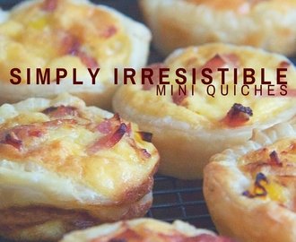 simply irresistible mini quiches