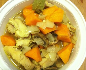 crockpot chicken and sweet potato stew