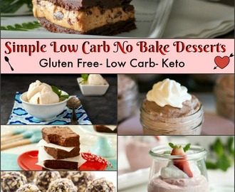 Simple Low Carb No Bake Desserts