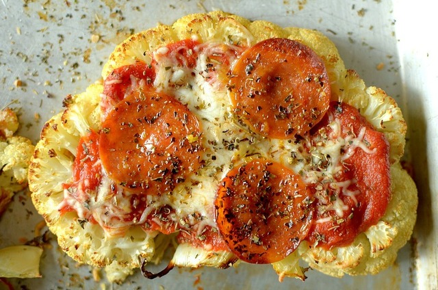 Cauliflower Pizza Steaks {Gluten-free w/ Vegan & Paleo options}