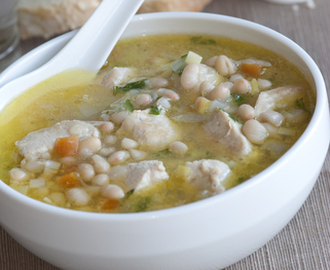 Kid-Friendly Chicken and Bean Soup