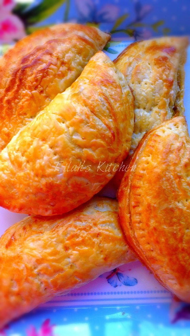 Super Easy Recipe - Minced Beef and Onion Prata Puff (Karipap Prata Daging Cincang dan Bawang - Resepi Mudah)