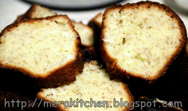 Banana Bread/Cake with Coconut and Rum