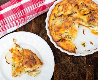 Butternut, Potato and Onion Crustless Quiche