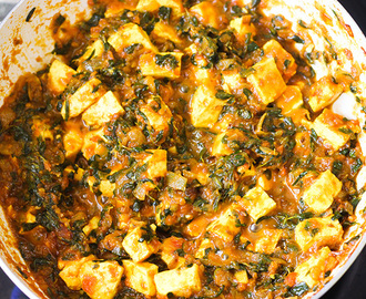 Methi Paneer Recipe, Paneer Methi recipe